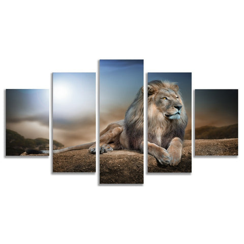 King Lion Prints on Canvas