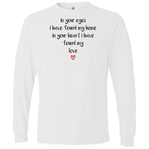"In Your Eyes... A romantic ""present for my partner"" printed on AnviL 949 T-Shirt (Colors Pastel)"