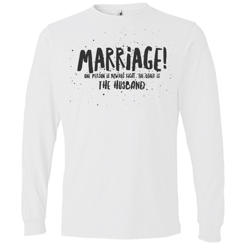 "Marriage One is Right... A cheeky ""present for my partner"" printed on AnviL 949 T-Shirt (Colors Pastel)"
