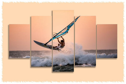 Windsurfing Back Loop Prints on Canvas