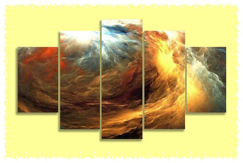 Golden Maelstrom Prints on Canvas