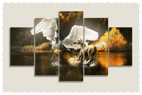 Pegasus Love Prints on Canvas