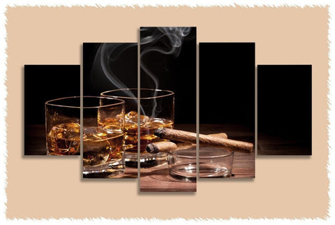 Drinks N Cigars Prints on Canvas