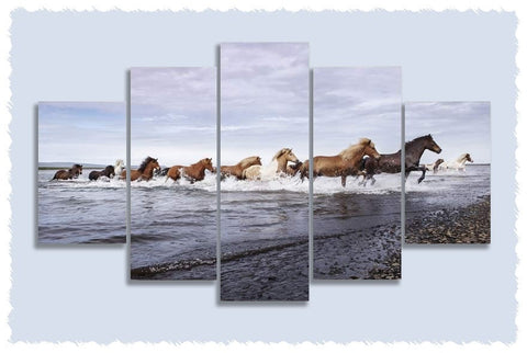 Horsey Beach Holiday Prints on Canvas