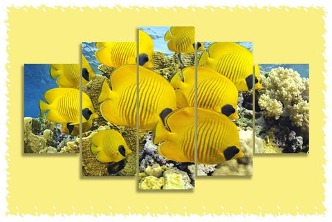 Golden Butterflyfish Prints on Canvas