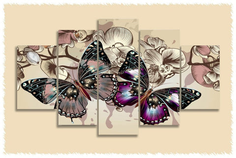 Butterflies Prints on Canvas