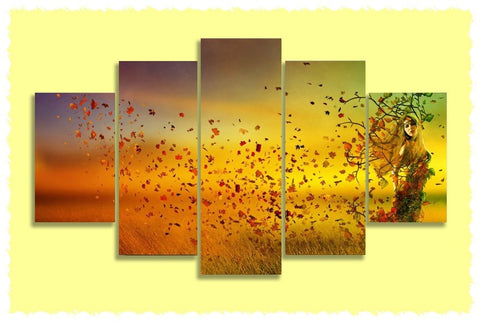 Autumn Maiden Prints on Canvas