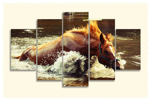 Horse to Water Prints on Canvas