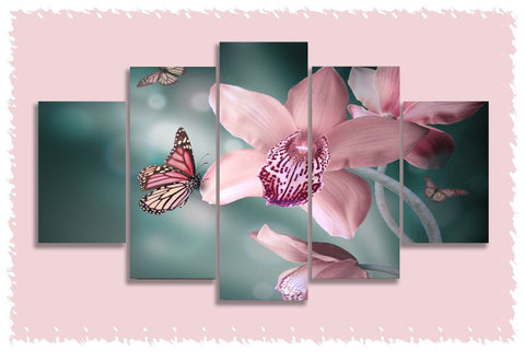 Butterfly Orchid Prints on Canvas