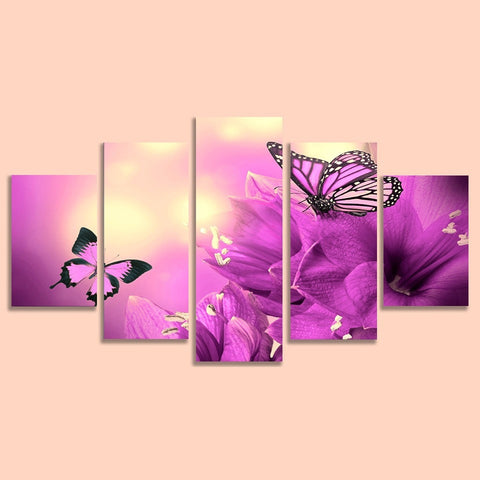 Butterfly Violet Prints on Canvas
