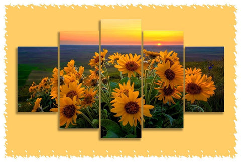 Sunflower Sunset Prints on Canvas