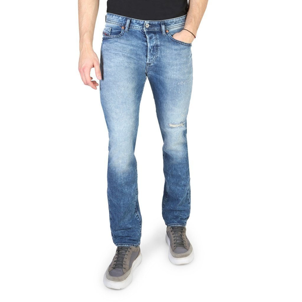 Diesel - BUSTER - WASHED BLUE JEANS - Trendy Labels