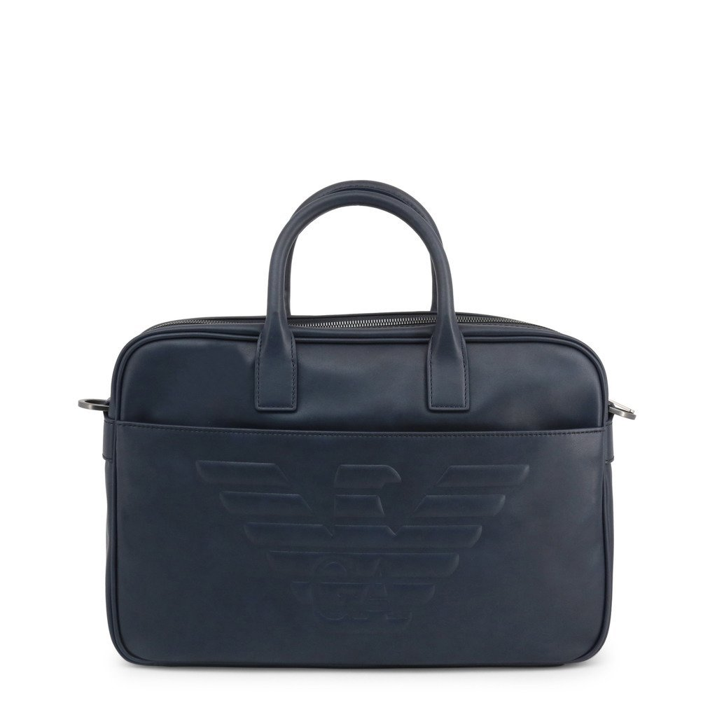 Emporio Armani embossed logo briefcase - Trendy Labels