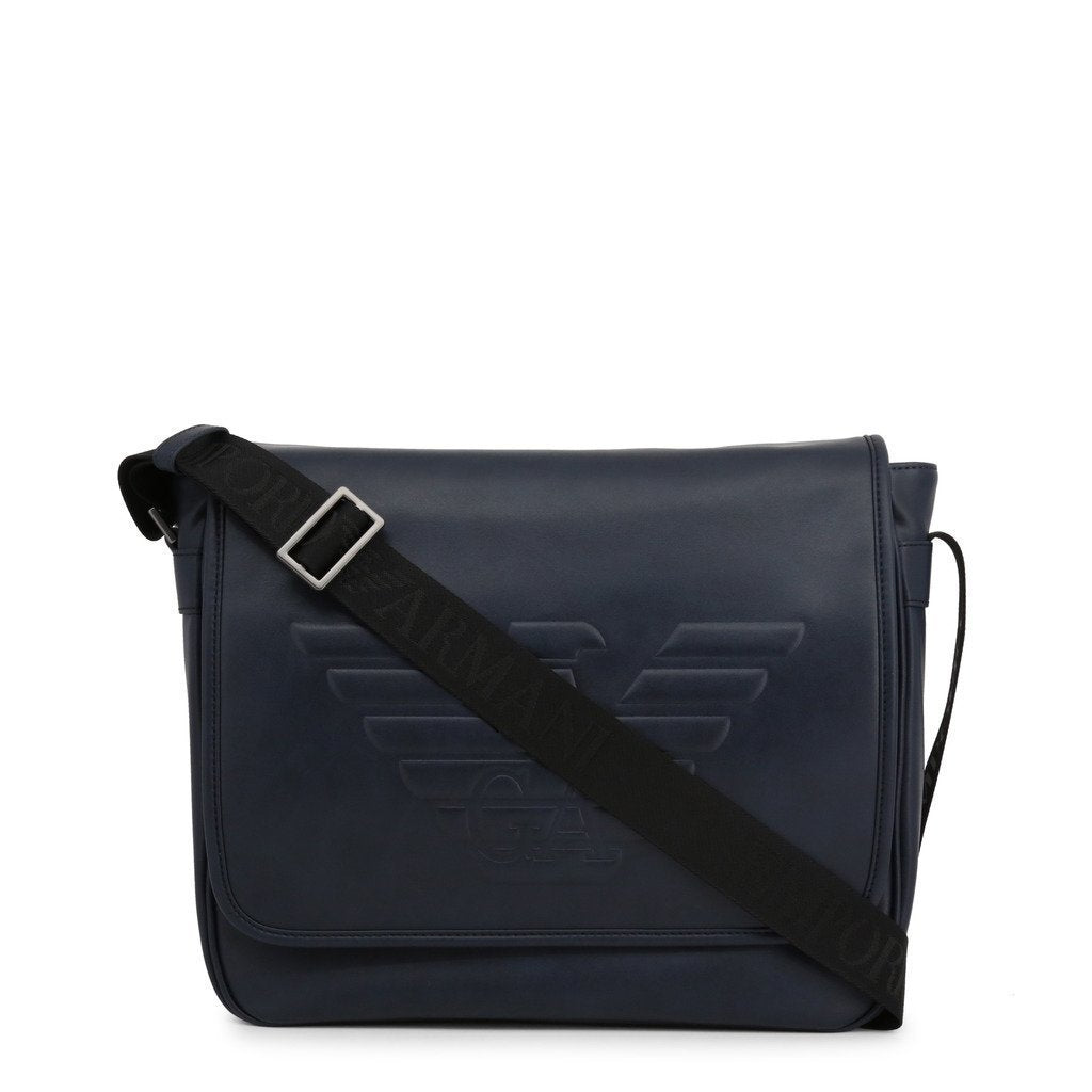Emporio Armani - Embossed Logo Crossbody Bag - Navy - Trendy Labels