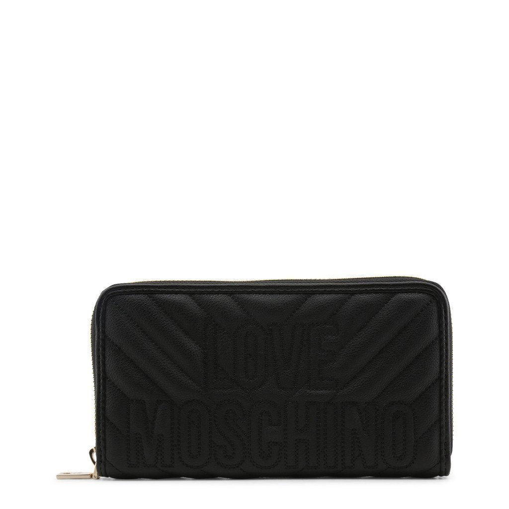 Moschino - Embroidered Wallet - Black - Trendy Labels