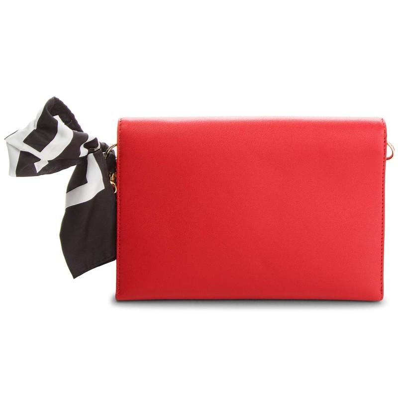 Moschino- Women's Scarf Tie Clutch Bag - Red Bags Clutch bags Love Moschino
