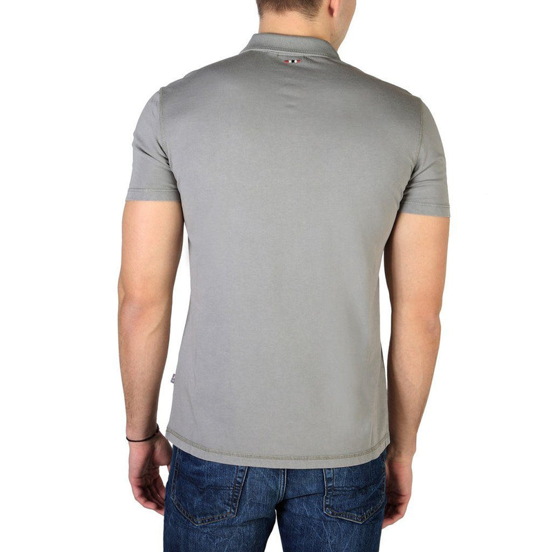 Napapijri -POLO SHIRT - GREY Clothing Polo Napapijri grey S