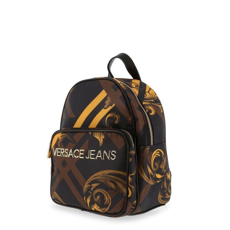Versace Jeans - BAROQUE PRINT BACKPACK- BLACK/GOLD Bags Rucksacks Versace Jeans brown NOSIZE