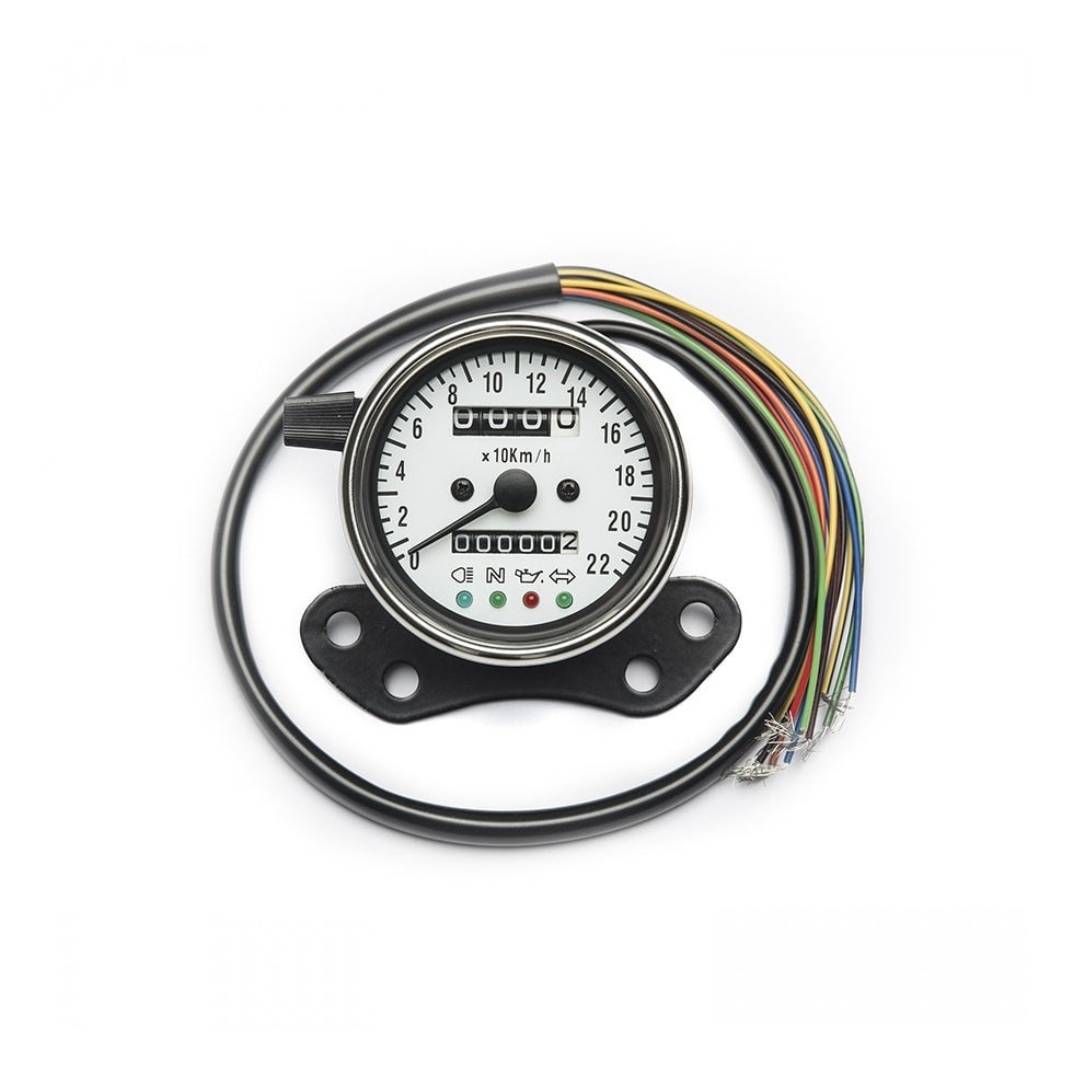 Triumph speedometer for carburetion