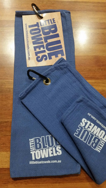 Little Blue Golf Towels 2 Pack - WITH POST