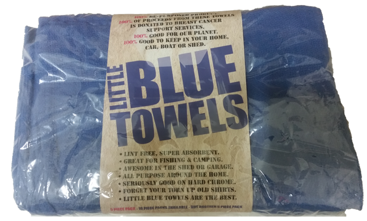 Little Blue Towels 10 Pack - WITH POST