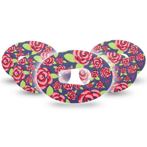 Pretty Pink Roses Dexcom G6 Tape 5-Pack