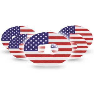 American Flag Dexcom G6 Tape 5-Pack
