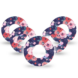 Painted Flower Libre Tape 5-Pack