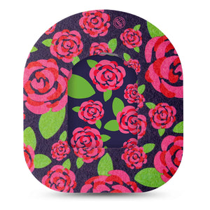 Pretty Pink Roses Pod Transmitter Sticker with Tape