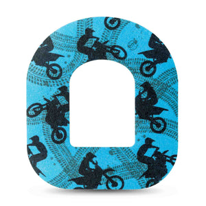 Dirt Bikes Blue Pod Patch