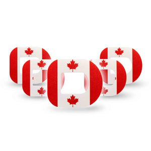 Canada Flag Pod Patch 5-Pack