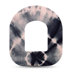 Black and Grey Tie Dye Omnipod Overpatch