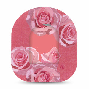 Blush Rose Pod Transmitter Sticker with Tape