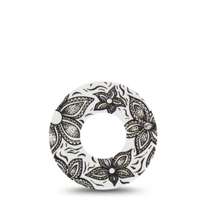 Black and White Floral Libre Tape