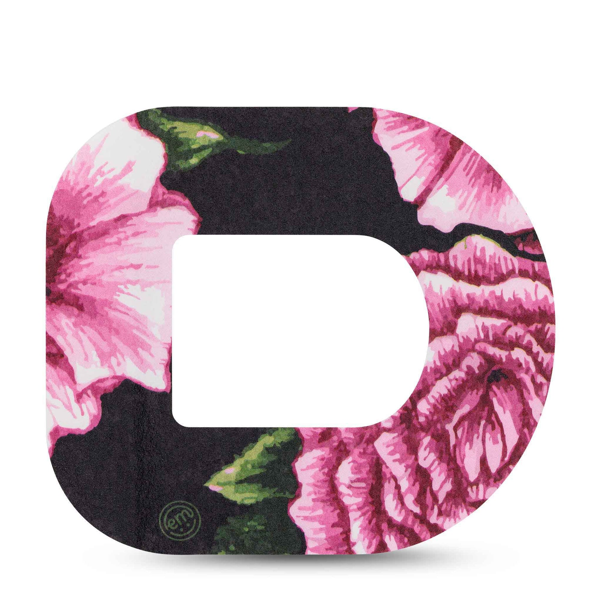 Intricate Pink Flower Omnipod Tape