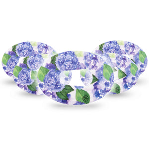 Lavender Flowers Dexcom G6 Tape 5-Pack
