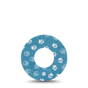 Blue and White Pawprints Libre Tape