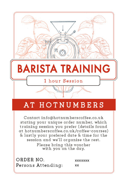 Barista Training 1 Hour Voucher