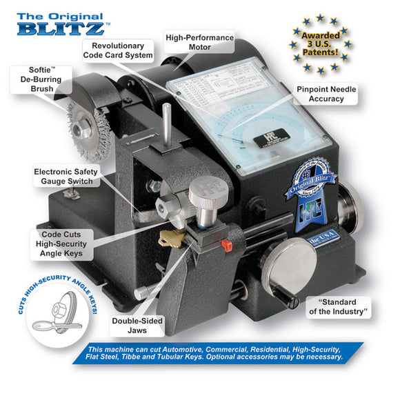 HPC Original Blitz Key Machine, 1200CMB - Locksmith.Supply