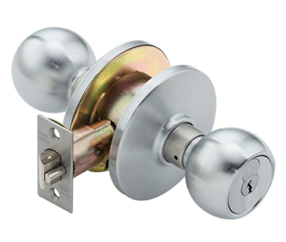 6K entry function knob lock or doorknob made to accept I/C core cylinders