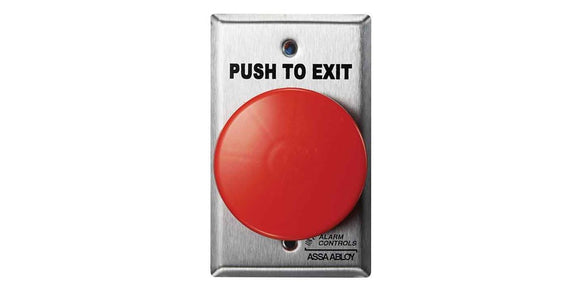Alarm Controls Large Mushroom Red Exit Button TS21R