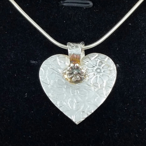 Flowery Heart Necklace