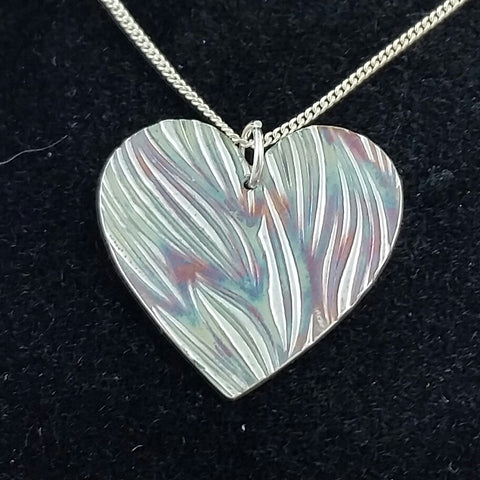 Swirly Grass Heart Pendant