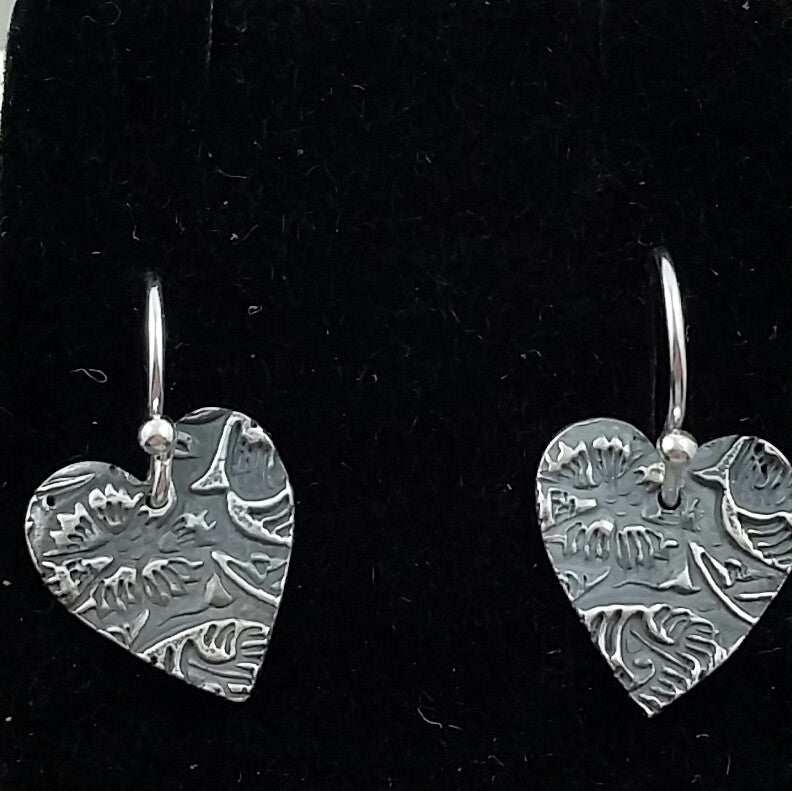 Carnation Heart Earrings