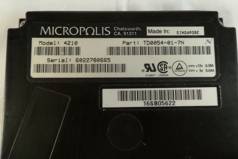 Micropolis 1GB SCSI 50 Pin 3.5in HDD