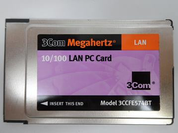 3Com 3CCFE574BT Megahertz 10/100 LAN PC Card