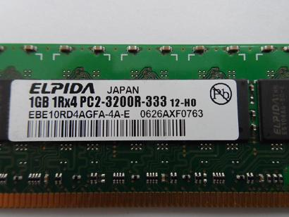 HP/Elpida 1GB PC2-3200 DDR2-400 240-Pin DIMM