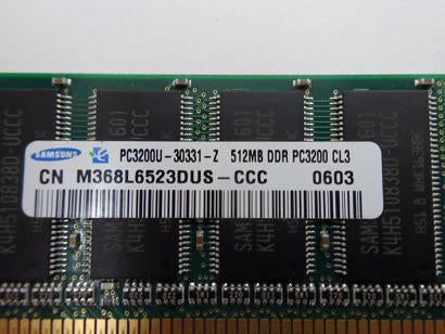 Samsung 512MB PC3200 DDR-400MHz 184-Pin DIMM