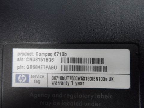 HP 6710b Core 2 Duo 2.2GHz Laptop