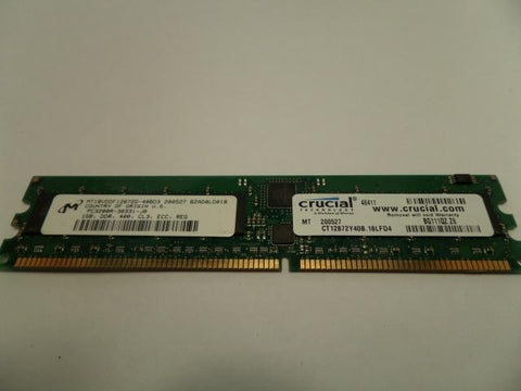 Micron 1GB PC3200 DDR400 CL3 Ecc Reg DIMM